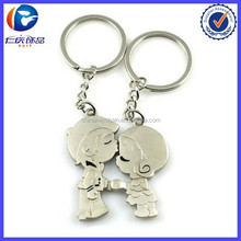 Hot Sale Product Cheeky lovers kiss key ring for valentine's day gift