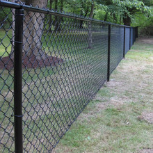 cheap black vinyl coated chain link fence for sale