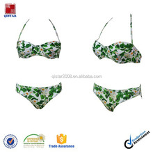 European style floral print girls sexy bikini swimsuits bathing suits