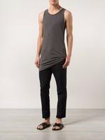 Physical Training Custom-Made Adults 160G 100% Cotton Gym Vest Garment Dyed Watermark Nanchang Sleeveless Stringer Tank Top