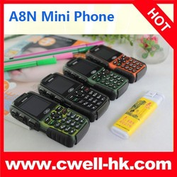 iCard Card Size 1.0 Inch OLED Screen GSM Quad Band Single SIM small size mobile phone with FM Radio 4.8mm Slim Body 2 Colors