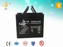 Factory sale sealed maintenance free rechargeable storage security system battery 12v55ah AGM battery