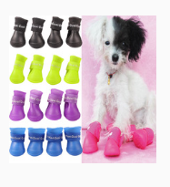 Brand new Lovely Portable Pet Dog Waterproof Boots Rain Shoes J3G#