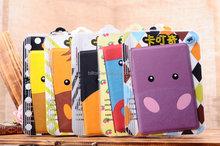 Cute cartoon character flip leather case cover for iPad mini 1/2