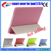 HOT SELLING!!! ultrathin smart cover case for ipad 2/3/4