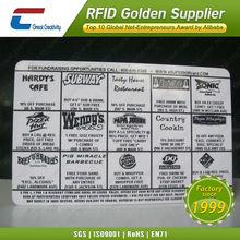 UHF 860MHZ M3 M4 M5 rfid chip card