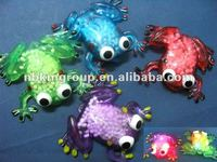 2012 New tpr led flashing frog toy