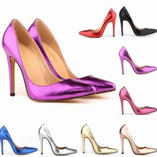 SAA4616 Pointed toe lady shoes sexy snake pattern fashion 11cm high heel women pumps shoe