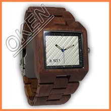 Men Natural wood Quartz Calendar Wood Wrist Watch with Date Calendar