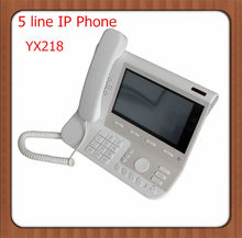 Best price YX218 android gsm conference phone ,HD voice 5 line ip wifi phone ,telcommunications voip phone with 2 year warranty