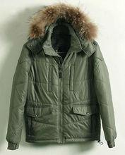 hombres sudadera con capucha de piel al aire libre chaqueta de abrigo