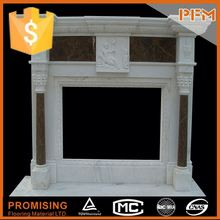 hot sale natural well polished trimmed outside edges elaborate ornamentation fireplace