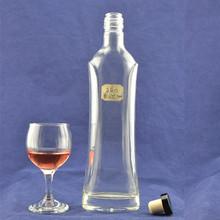 Empty wholesale empty glass bongs bottle, vodka glass bottle