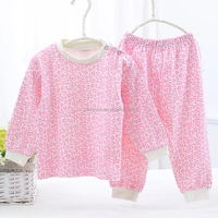 Girl Pink Complete Clothes Warmth Long Sleeves Baby Suit Toddler Clothes Set
