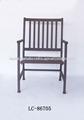 hecho a mano antiguos antiguos de metal negro silla de comedor