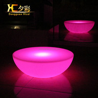 Waterproof led bar furniture party events furniture curved bar table led cocktail table bar furniture