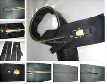Neoprene Metal watertight zippers, airtight zippers,waterproof zippers