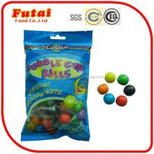 6 sabores de frutas 8 g individualmente envolvido bola chiclete