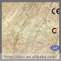 Italy style of colorful stone chip coated steel roof tiles polished faux marble floor tiles with shell design