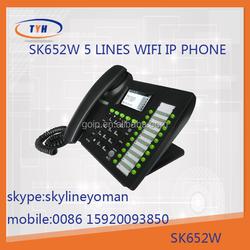 Sk 652W 5 lines smart voip wifi sip phones wifi sip desk phone cisco ip phone