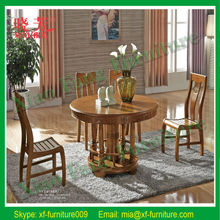 Latest Xiaofang hot selling newest solid wood furniture round eating table