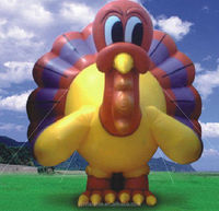 hot sale inflatable turkey bird advertising