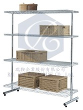 4 Solid 2 Post Shelf Rack for Living Room, Garage, Warehouse of Heavy Duty Shelving