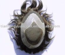 100% indian human hair toupee
