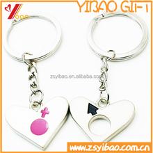 2015 Hot selling custom logo metal keychain/Lovers metal keychain