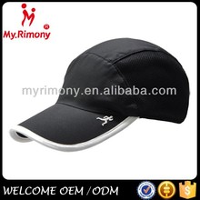 high quality black color Dry fit sports cap