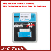 2015 new arrival Plug and Drive EcoOBD2 Economy Chip Tuning Box for Diesel Cars 15% Fuel Save OBD II