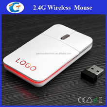 Ultra Slim Wireless 2.4 GHz Lithium Rechargeable Mouse with Luminous Logo