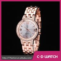 Summer Style Casual Gold Stainless Steel Women Dress Wristwatches Classics Quartz Oem Watch XR1056
