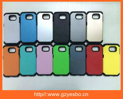 2015 new top sale 2 in 1 case for samsung galaxy S6 case cover for samsung all model for iphone all model