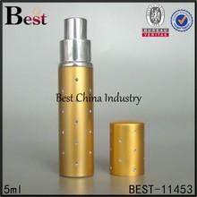 5ml gold luxury perfume atomizer spray, perfume atomizer spray 5ml
