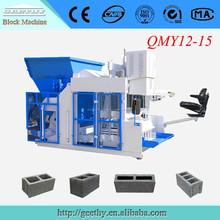 Qmy12-15 cemento moldes de ladrillos de máquinas máquina de fabricación de ladrillos