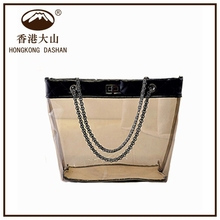 Fashion transparent tote bag fashion clear plastic beach shoulder bag