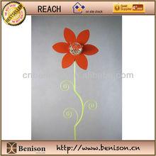 2013 New Product High Quality Decoration European Metal Garden Sticks/Garden Stake/Hook with SunFlower Glow in the Dark