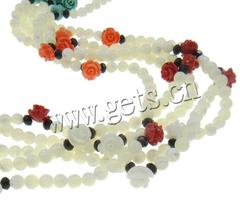 8x6mm With Nylon Cord & Natural Coral & Crystal White Shell Necklace