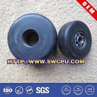 Black 3 inch solid small rubber wheels for toy