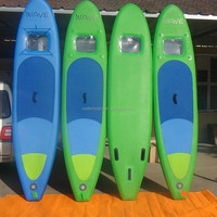 most popular stand up paddle board with window/wholesale surfboard/inflatable sup