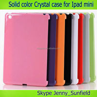Tablet case solid color smart cover companion crystal case for ipad mini , for ipad mini case crystal ,for ipad case mini