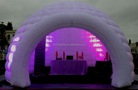 Lightweight inflatable igloo with led/inflatable igloo tent/white inflatable igloo for sale