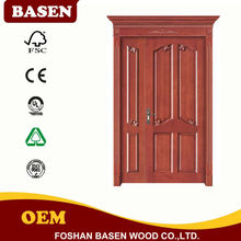 45mm Mahogany 60min fire rated entry solid wood door, solid wooden door, FSC mahogany solid
