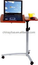Height Adjustable Rolling Laptop Desk Cart