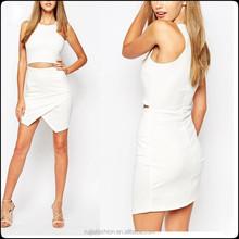 2015 New Fashion Zip Waist Asymmetric Wrap Mini Dress LD1008