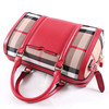 China factory made red and grey grid pattern handbag,fashion high-end office lady casual handbag bags