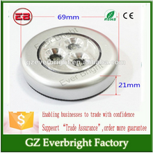wholesale price Auto Accessories 3 LED Cordless Stick Tap Wardrobe Touch top Light Lamp Battery Powered car light bulbs