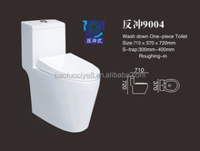 One piece manufacturer washdown design toilet
