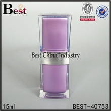 15ml acrylic square ladies cosmetic item